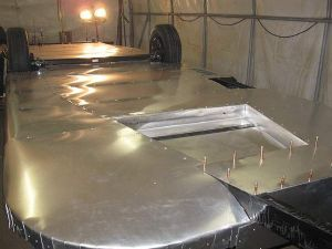 .025 5052H32 4' x 6' Airstream Belly Pan material